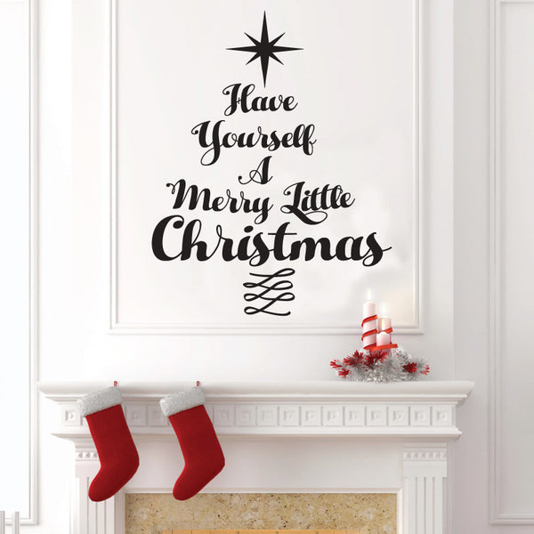 Christmas Typography Tree - Dana Decals