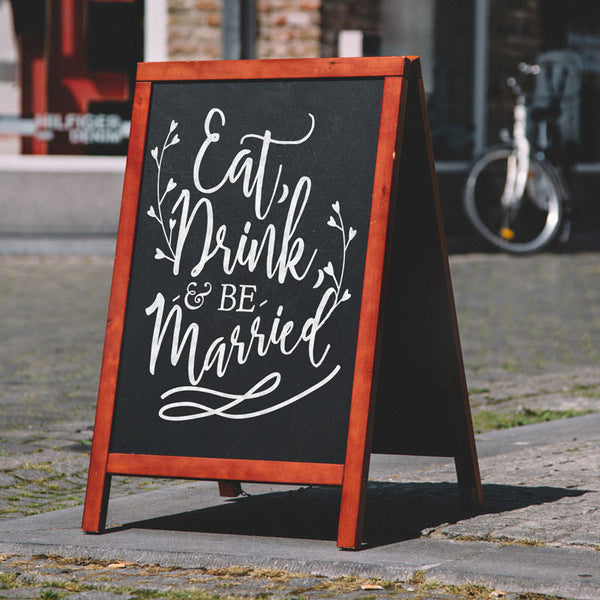 Eat, Drink, and be Married Wedding Sign - Dana Decals