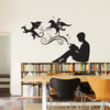 Boy Reading Magic Book Wall Decal - Dana Decals