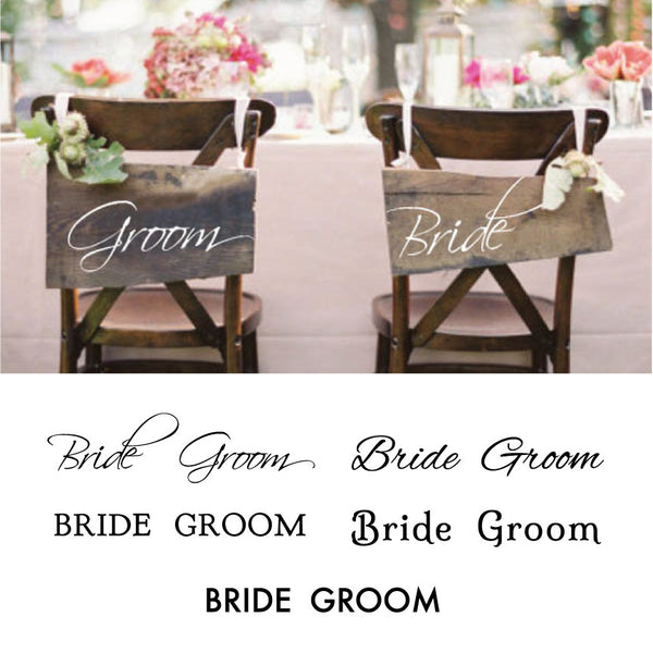 Bride & Groom Sign - Dana Decals