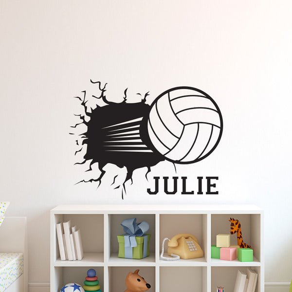Personalized Volleyball Smashing - Dana Decals