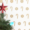Candy Canes and Peppermint Pattern - Dana Decals - 1