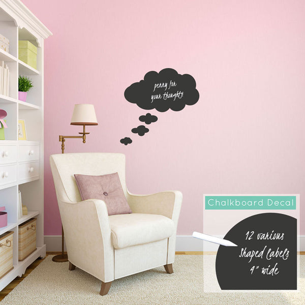 Chalkboard Thought Bubble - Dana Decals