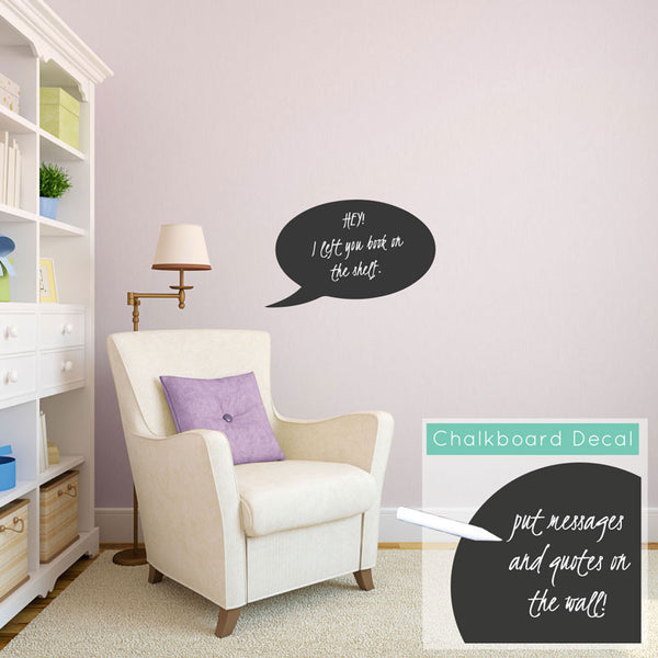 Chalkboard Word Bubble - Dana Decals