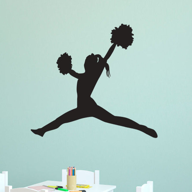 Cheerleader Toe Touch - Dana Decals - 1