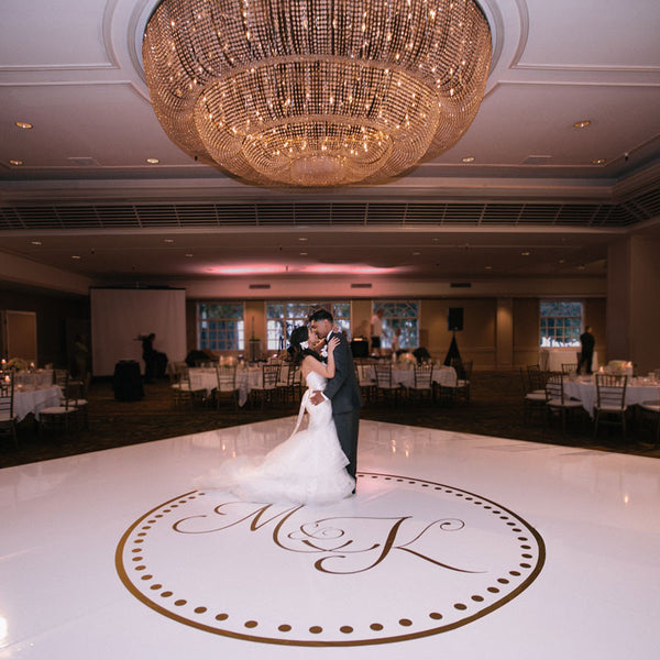 Wedding Dance Floor Circle Monogram Decal Shop Dana Decals