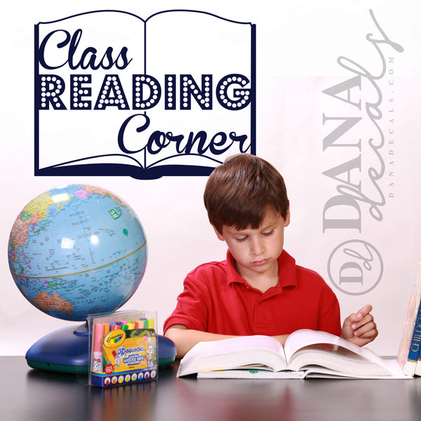 Customized Classroom Reading Corner Book - Dana Decals