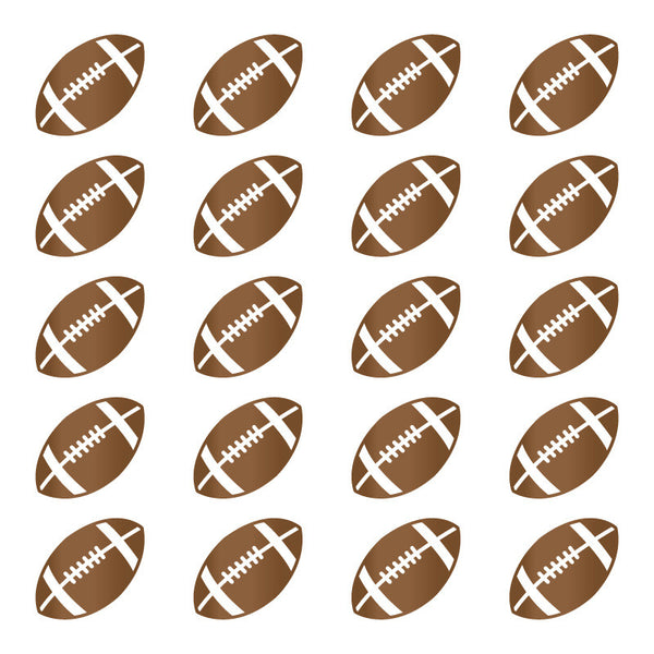 Football Pattern Metallic Copper SALE - Dana Decals