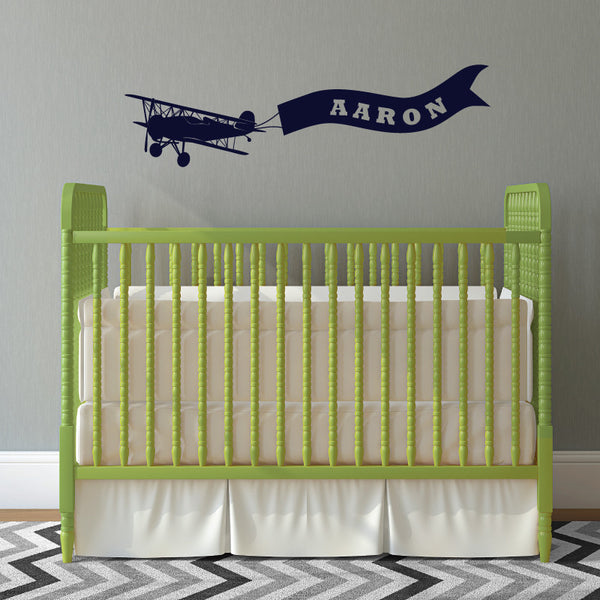 Personalized Airplane with Banner - Dana Decals - 1