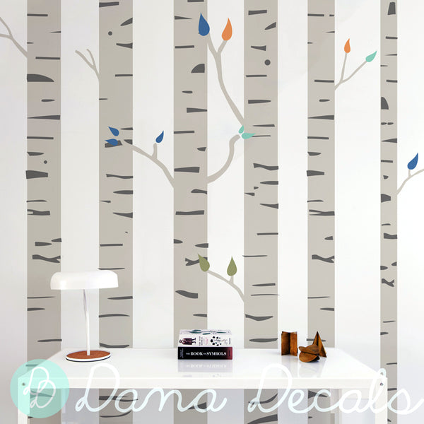 Colorful Birch Trees - Dana Decals