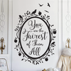 Snow White Fairest of Them All Quote in Woodland Mirror - Dana Decals