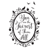 Snow White Fairest of Them All Quote in Woodland Mirror - Dana Decals - 6