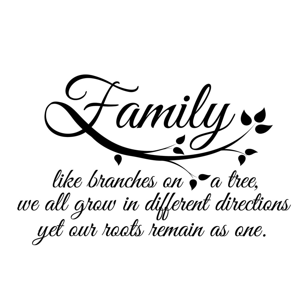 Small Family Quote in Black SALE - Dana Decals