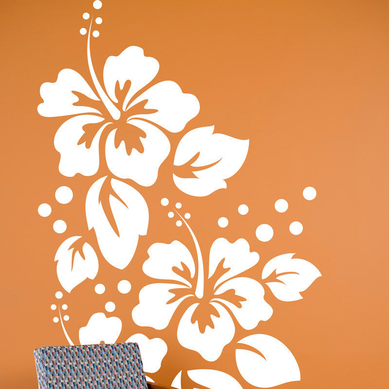 Large Hibiscus Pattern - Dana Decals