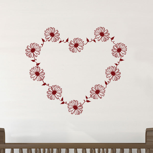 Daisy Chain Heart - Dana Decals - 1