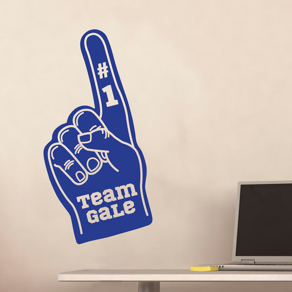 Personalized Foam Finger Decal - Dana Decals
