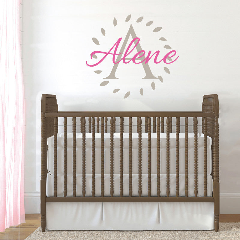 Nursery Name Monogram - Dana Decals - 1