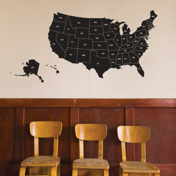 Map of United States - Dana Decals - 1
