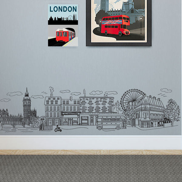 Doodle London Scene - Dana Decals - 1