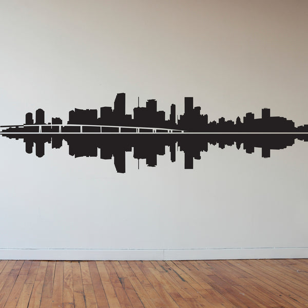 Miami Skyline Silhouette - Dana Decals - 1