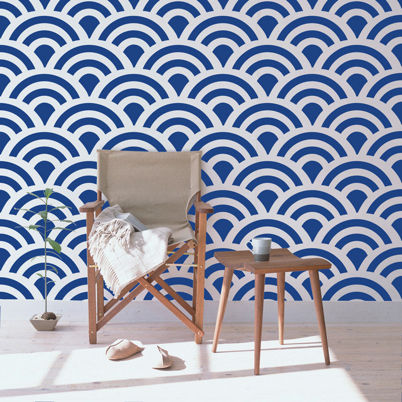 Chic Scallop Wall Pattern