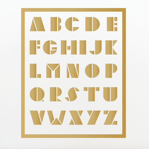 ABC Geometric Alphabet - Dana Decals - 1