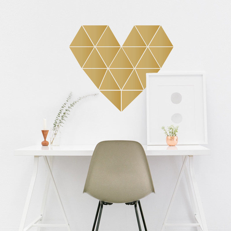Geometric Heart Decal - Dana Decals