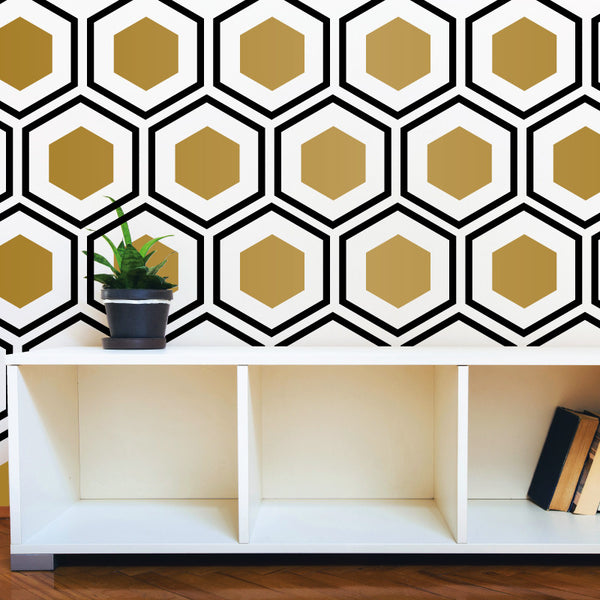 Art Deco Hexagon Pattern - Dana Decals - 1