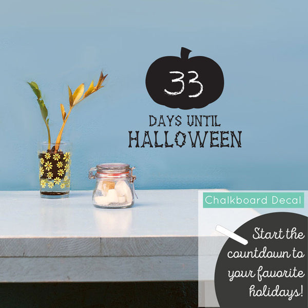 Chalkboard Halloween Countdown Pumpkin - Dana Decals - 1