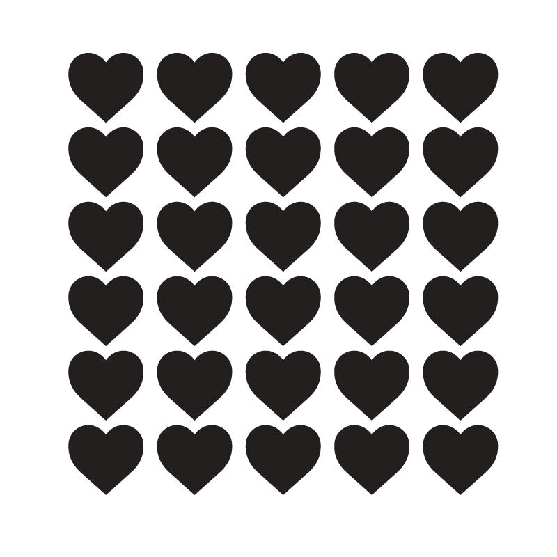 120 Tiny Black Hearts Pattern SALE - Dana Decals