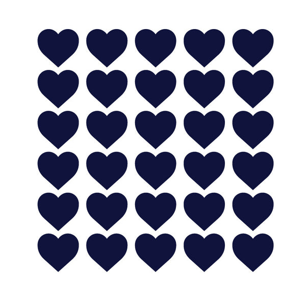 100 Tiny Dark Blue Hearts Pattern SALE - Dana Decals