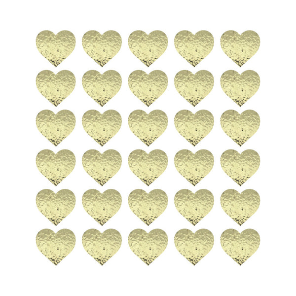 100 Tiny Gold Chrome Hearts Pattern SALE - Dana Decals - 1
