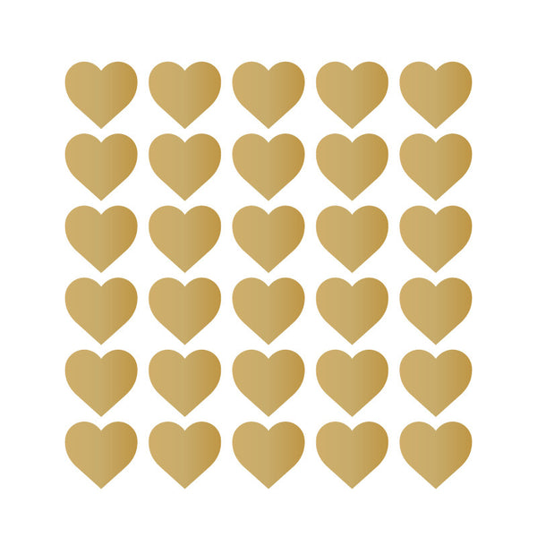 150 Tiny Metallic Gold Hearts Pattern SALE - Dana Decals
