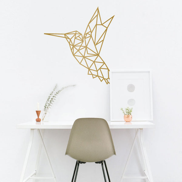 Geometric Hummingbird - Dana Decals - 1