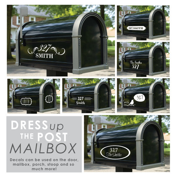 Custom Name & Address Label for Mailbox & Front Door - Dana Decals - 1