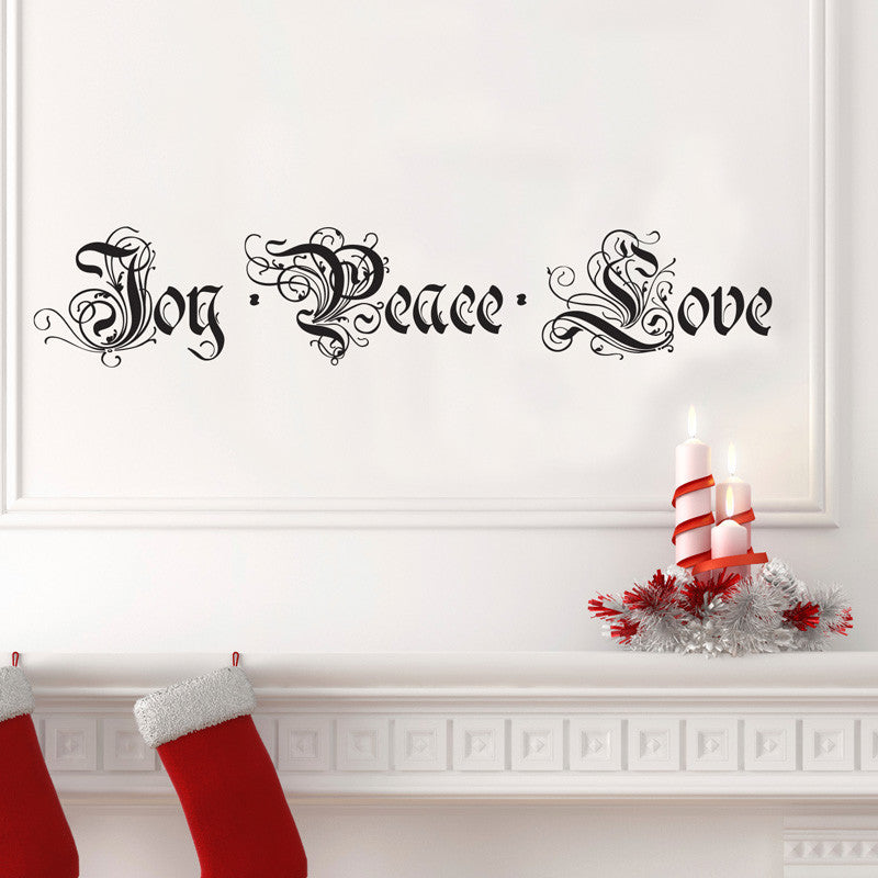 Joy, Peace, Love - Dana Decals