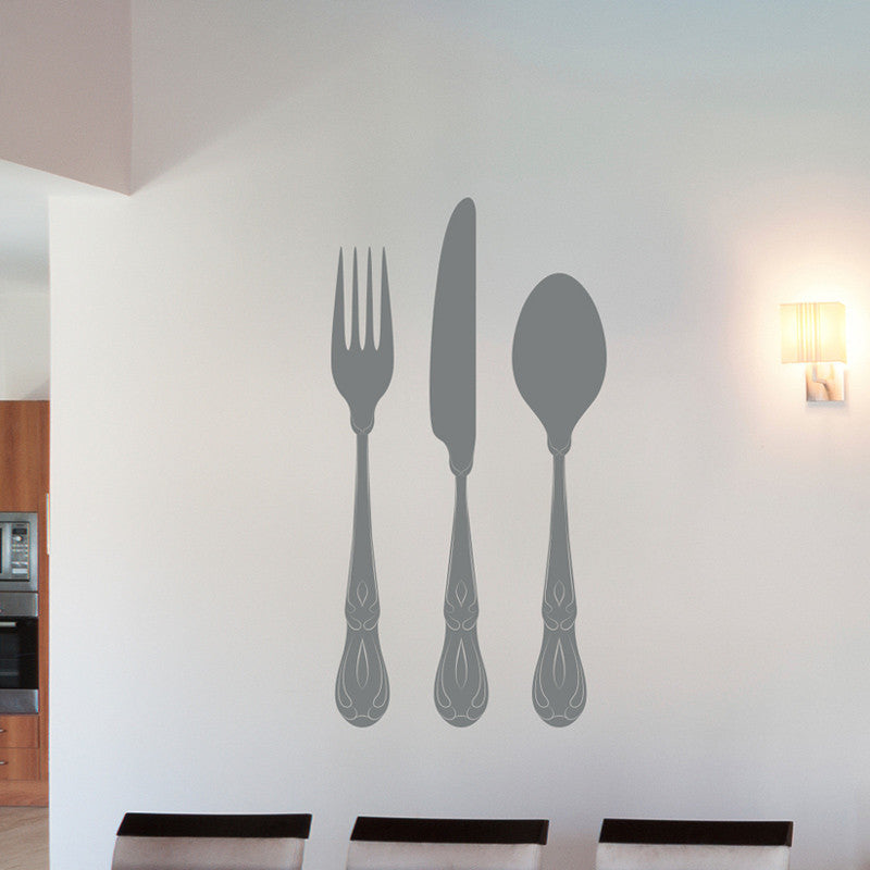 Elegant Fork, Knife, and Spoon - Dana Decals