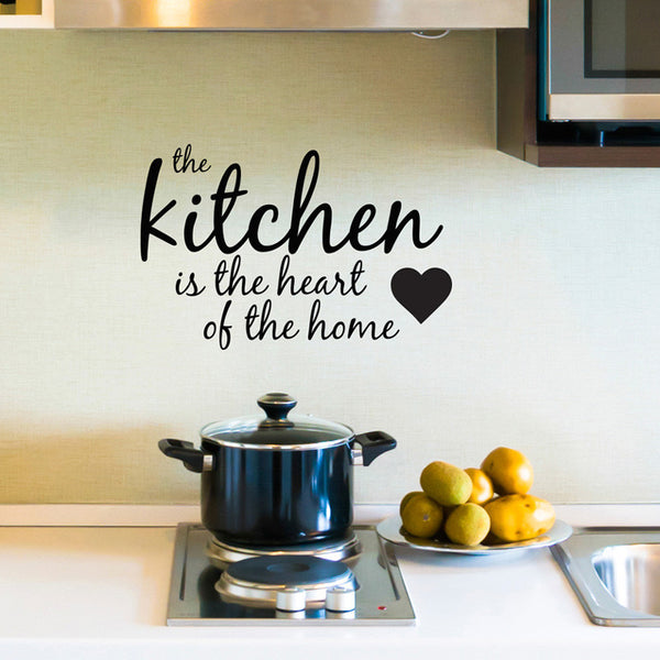 Kitchen Heart Home Quote - Dana Decals