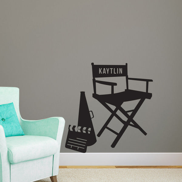 Personalized Directors Chair - Dana Decals - 1