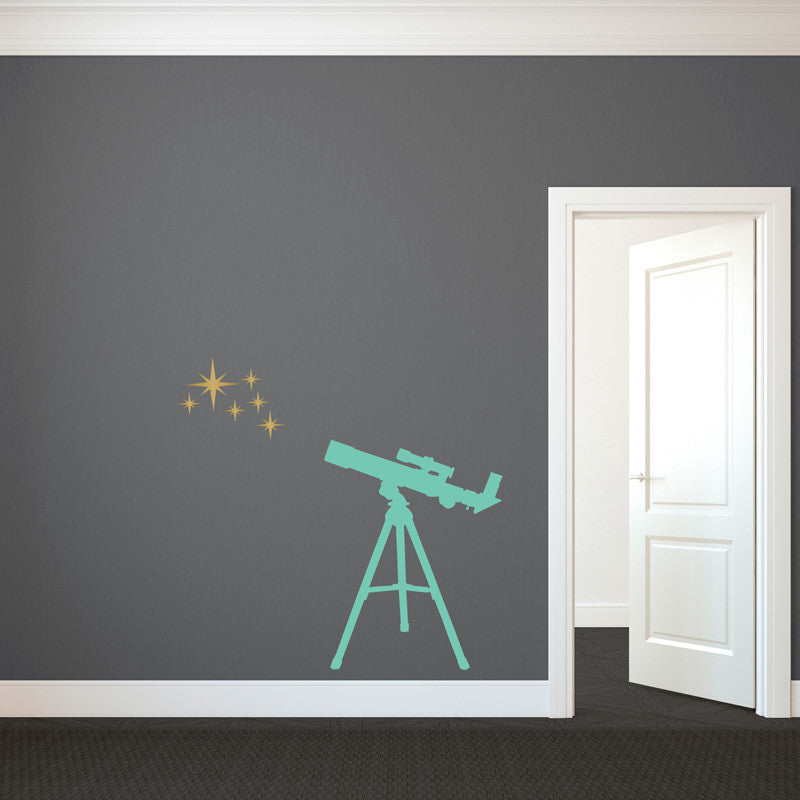 Telescope With Stars - Dana Decals - 1