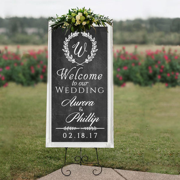 Custom Wedding Welcome Sign - Dana Decals
