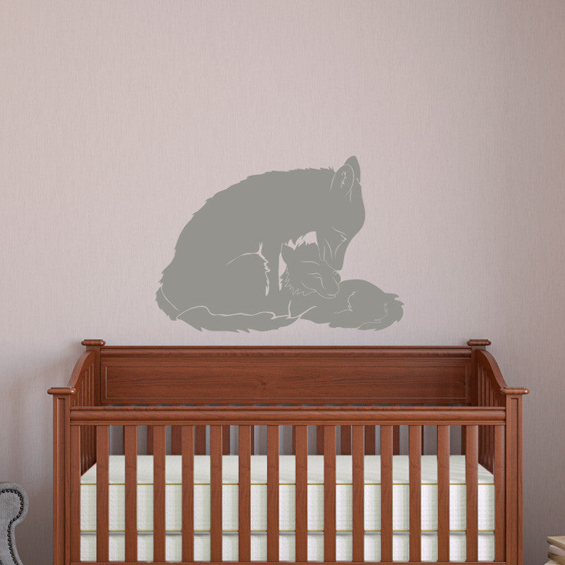 Mom and Baby Fox - Dana Decals - 1