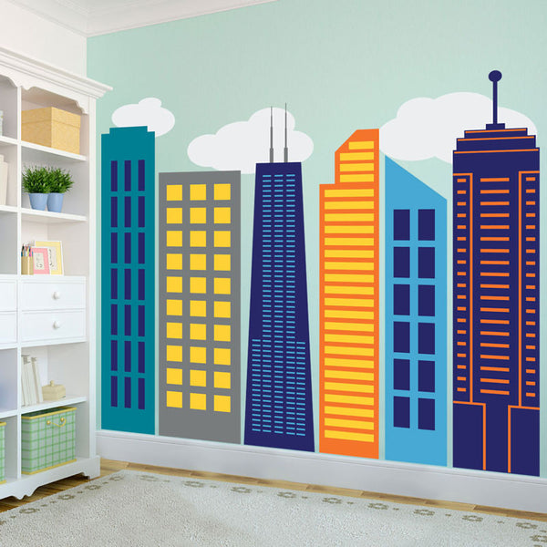 Bold & Colorful City Skyline - Dana Decals - 1