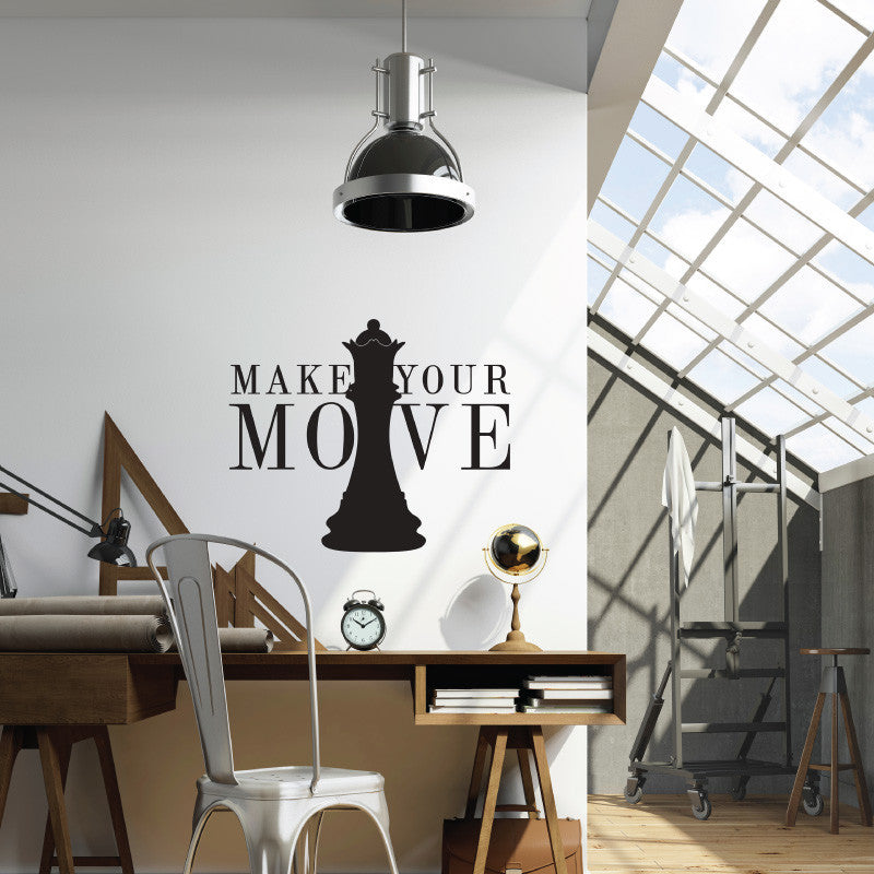 Make Your Move Quote Chess - Dana Decals - 1