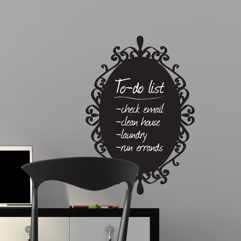 Decorative Chalkboard Frame - Dana Decals