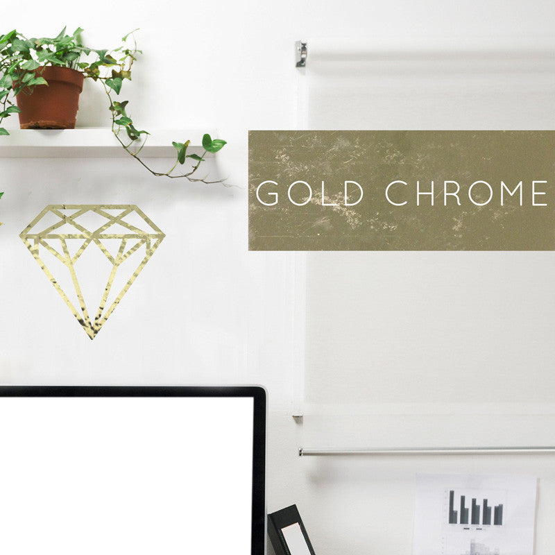 Gold Chrome Diamond - Dana Decals