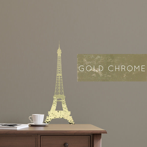 Gold Chrome Eiffel Tower - Dana Decals