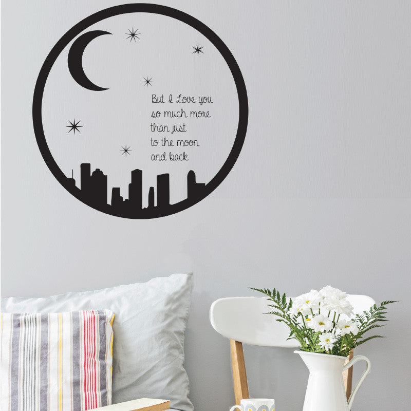 Moon and Back Quote - Dana Decals - 1