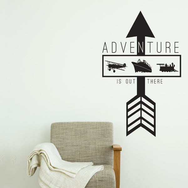 Adventure is out there Arrow Quote - Dana Decals