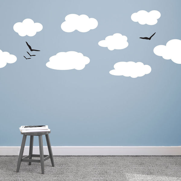 Clouds and Birds - Dana Decals - 1